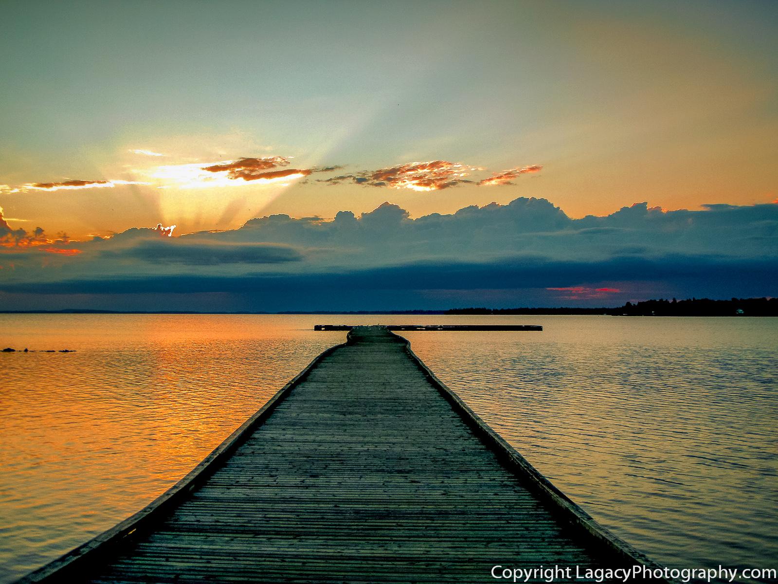Orange Sunrise by the Docks